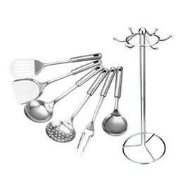 $enCountryForm.capitalKeyWord Australia - Kitchen Tools Gadgets Cooking Tool Sets 7 PCS Kitchen Tool Set Stainless Steel Cooking Tools Utensils Spoon Utensil