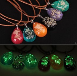 $enCountryForm.capitalKeyWord Australia - Natural Dried Flowers Luminous Necklaces Clear Water Drop Pendants Handmade Choker Wax Rope Clavicle Chain Charming Jewelry
