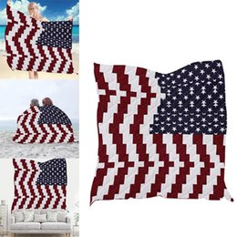 $enCountryForm.capitalKeyWord NZ - New Fashion Flag Pattern All-Season Blanket Decorative Unique Quilted for Household Gifts Fashion Outdoor All-season Quilt