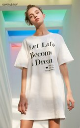 leisure clothing for women UK - Letter 2015 Leisure Long T-Shirt Mini Club Dress Casual Woman Plus Models For Women White Sale Dressed Dresses Designer Print Clothes