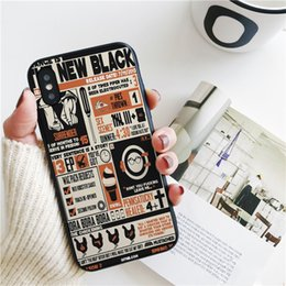 show iphone NZ - Capa Luxury Orange Is the New Black TV Show Cover for iPhone 11 Pro Xs Max Xr Case for iPhone 8 7 6s Plus 5S SE Case Soft Silicone Cover.