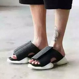 b mat 2020 - Fashin Men's Personality Street Sandals Slippers Leather Mat Horseshoe Sandalias Hombre Air Cushion Hoof Heels Shoe