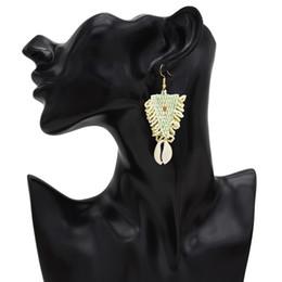 Rice shells online shopping - Bohemian Rice Beads Earrings Travel Natural Shell Pendant Triangle Earrings For Women