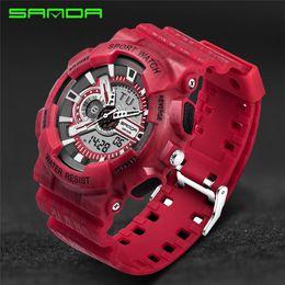 Discount reloj water resistant - Top Brand Mens Watches Luxury SANDA Digital watch G Style Military Sport Shock Wrist Watches 2019 Men LED Quartz Digital