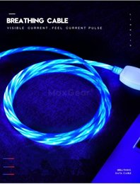 $enCountryForm.capitalKeyWord Australia - Micro USB Cable LED Flowing Visible Light Up Luminescent 3.0 Charge Cord and Type-C USB Cable for Samsung Xiaomi Huawei iPhone