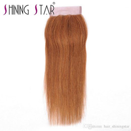 $enCountryForm.capitalKeyWord NZ - Shining Star 30 Blonde Ombre Brazilian Straight Hair Lace Closure Middle Part Human Hair Closure Bleached Knots