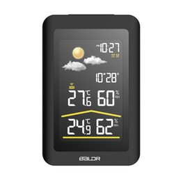 desktop weather 2019 - BALDR B0320WST2H2PR - V5 Wireless Indoor Outdoor Weather Station Clock Time Display Table Desktop Wall Led Screen Digita
