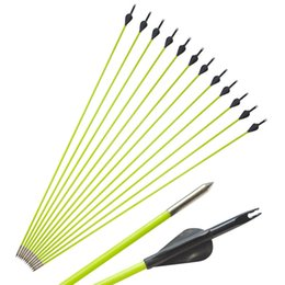$enCountryForm.capitalKeyWord Australia - Archery Spine 600 Fiberglass Arrows Fixed Point Tip With Black Rubber Feather Shooting Hunting Target for Recurve Compound Bow Practice