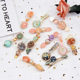 $enCountryForm.capitalKeyWord Australia - 1 Set Crystal Pearls Hair Clips for Women Korean Headwear Gemstone Hairpins BB Barrettes Headband Ins Fashion Hair Accessories