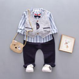 $enCountryForm.capitalKeyWord NZ - Autumn Winter Children Boys Cartoon Clothes Baby Vest Tie T Shirt Pants 3 Pcs Sets Kids Leisure Sport Suit Toddler Tracksuitsuit
