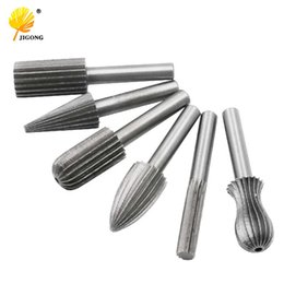 "$enCountryForm.capitalKeyWord UK - tool steel round bar 6pcs Carbide Cutter Rotary Burr Set CNC Engraving Bit Rotary File Bur Burr Grinding Shank 6mm 1 4"" For"