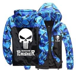 Skull Army Jacket Australia - good quality 2019 new fashion Camo Jacket Windbreaker Men and Women Skull Print Camouflage Jackets men clothes