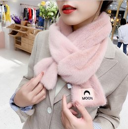 scarf slides wholesale UK - Autumn and Winter Scarf women's versatile moon Bib fashion trendy ins girl warm winter shawl