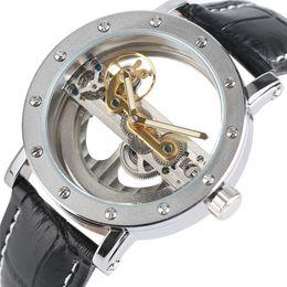 $enCountryForm.capitalKeyWord Australia - Luxury Hollow Automatic Watch Mechanical Men Black Leather Wrist Watches Transparent Skeleton Business Casual Self Wind Clock MX190724