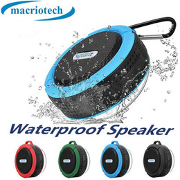 $enCountryForm.capitalKeyWord Australia - C6 Speaker wireless Bluetooth Speaker Potable Audio Player Waterproof Speaker Hook And Suction Cup Stereo Music Player With Retail Package