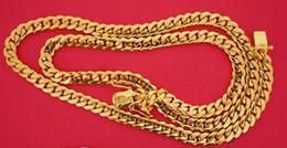 Cuban Chain 7mm Australia - 105 Grams Miami Cuban Link Chain 10K Solid Yellow Gold 7mm Gold Best Price ASAAR