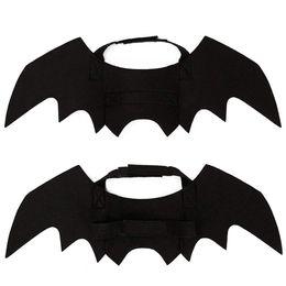 Halloween Costume Wings Australia - Halloween Pet Costume - Pet Bat Wings & Cloak Witch Vampire Cosplay Combination Small Cats & Dogs