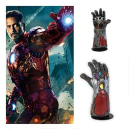 cosplay mask iron man Canada - : Endgame superhero mask Iron Man Tony Infinity Gauntlet Cosplay Arm Gloves Party Props Thanos Latex Mask