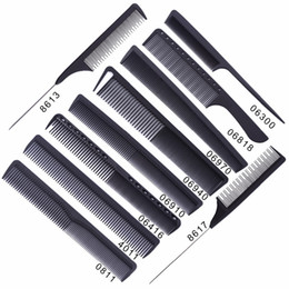 $enCountryForm.capitalKeyWord Australia - Black Professional Combs Hairdressing New Tail Comb Carbon Anti Static Comb Hair Cutting Comb