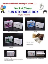 Toy box sTorage bins online shopping - Plastic Hidden Storage Box Mini Saving Boxes Receptacle Outlet Invisible Decoration Safe Small Gift Originality Deposit Bins hl A1