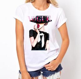 e57efafda15dd8 Le t-shirt fredde della ragazza online-Maglietta della ragazza di stampa di  estate