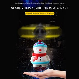 InductIon toys online shopping - 2020 Snow Baby Induction Sensor Toy Aircraft Mini Snowman Electric RC Helicopter Drone Automatic Booting Flyer Christmas Toys For Kids