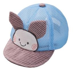 Bebê chapéu verão 0-3-6-12 meses homens e mulheres bebê verão seção fina cap malha viseira respirável em Promoção