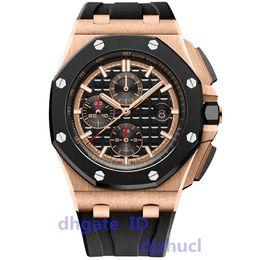 Black divers watches for men online shopping - luxury mens watches for Men VK chronography quartz movement ROYAL OAK series mens watch rubber strap mens sport watches