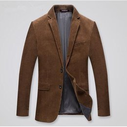 Mens sliM fit corduroy suit online shopping - Male corduroy suits outerwear spring autumn casual suit men slim fit blazer mens blazer jacket