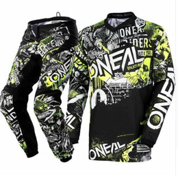 Factory Outlet Suits Australia - Factory Outlet 4 Colors Motocross Suit Motorcycle Racing Jersey and Pants combination MX ATV MTB DH set S-XXL
