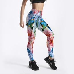 e6b52428fb 3D Flower Printed Women Leggings Lilies Birds Woman Workout Legging High  Wait Elastic Leggins Digital Print Pants