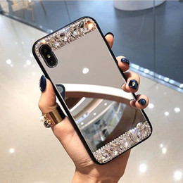 $enCountryForm.capitalKeyWord Australia - Phone Case For iphone 7 8 Plus 6 6S X XS XR XS Max Clear Mirror With DIY Glossy Diamond Glitter Cases TPU+PC Back Cover Shell