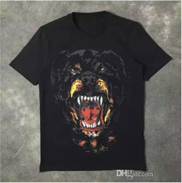 $enCountryForm.capitalKeyWord NZ - Wholesale Hot New Fashion Rottweiler Dog Print High Quality O-neck Black T Shirts For Men Women Cotton Free Shipping