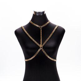 8d159c495657 Bra Choker UK - Wholesale Sexy Bra Chain Body Chain Choker Multilayered Body  Jewelry Aluminum Thin