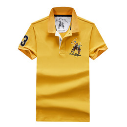 $enCountryForm.capitalKeyWord Australia - Mens business leisure polo shirt Lapel embroidery breathable summer foreign trade pure cotton thin short sleeve Tshirt for men