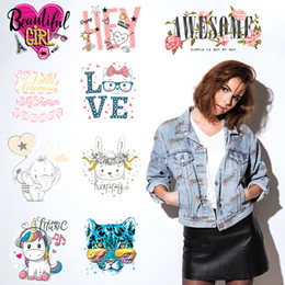 Wholesale stranger things stickers for sale - Group buy Iron on Transfer for Clothing Stickers on Clothes Heat Transfer Badges for T shirts Appliques Stranger Things Girl Patches