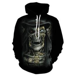 $enCountryForm.capitalKeyWord Australia - 2019's popular new skull 3D printed hoodie, men's and women's rock 'n' roll sweatshirt casual thin hoodie