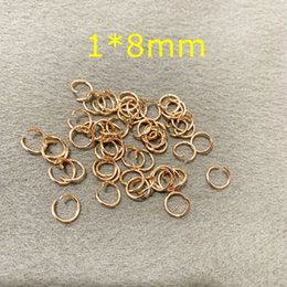 Open Connectors Australia - 1*8mm Rose Gold Silver Stainless steel Open Jump Rings Split Rings Connectors Jewelry Making DIY Accessories 500PCS