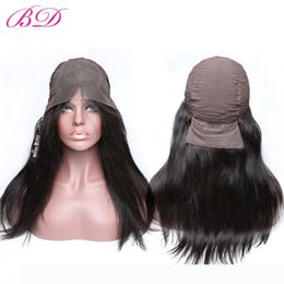cheap wigs long black hair NZ - Cheap!! Lace Front Wigs Brazilian Virgin Remy Human Hair Wigs Black Color Long Hair One Donor 8-24 Glueless Wigs Full Cuticle