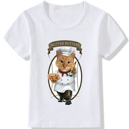 $enCountryForm.capitalKeyWord Australia - Chef t shirt Nutter butters short sleeve tops Kiss the cat unisex fastness tees Colorfast print clothing Pure color modal tshirt