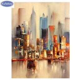 new york embroidery NZ - New York Cityscape Diamond Embroidery full square drill 5d diy diamond painting abstract art,3d cros-stitch kit,Decoration house
