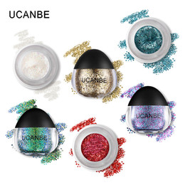cream color eyeshadow Australia - Ucanbe Glitter Cream Eyeshadow Pigmented Sparkling Eye Shadow Paste Sparkly Stage Makeup Sequins for Eyes Face Hair and Body