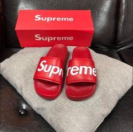 Beach Shoes 47 Australia - High Quality Luxury slippers Brand Designer Men Summer Rubber Sandals Beach Slide Fashion Scuffs Slippers Indoor Shoes Size EUR 36-47
