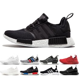 China R1 Japan Triple white Runner Running Shoes Classic Triple Black White Red white blue oreo OG black Women Athletics Sports Sneakers cheap japan sneakers women suppliers