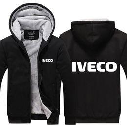 $enCountryForm.capitalKeyWord NZ - IVECO Winter Coat Car Logo Print Winter Cashmere Hoodie Super Warm Jacket Thicken hoody Zipper Hoodie Cotton Coat USA EU size