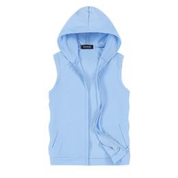$enCountryForm.capitalKeyWord UK - Casual Men Vest Sleeveless Jacket Summer Thin Breathable Hoodie Vest Men Outerwear Coats Waistcoat Plus Size 5XL Chaleco Hombre