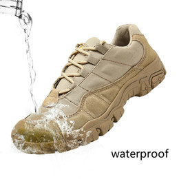 $enCountryForm.capitalKeyWord NZ - Outdoor Men Hiking Shoes Waterproof Breathable Tactical Combat Army Boots Desert Training Sneakers Anti-Slip Trekking Shoes