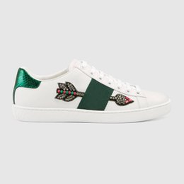 Designer Leather Canada - designer shoes online sale best quality leather men white trendy sneaker women trainers Color mixing EUR35-45 Original box Top branded