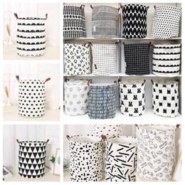 Yeni INS baskı Çamaşır sepeti Oyuncak depolama sepeti karikatür Çantalar Çocuklar Oyuncak Kirli kıyafetler sepet 40 * 50 cm T2I5346