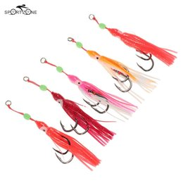 jigs lures for fishing Australia - Lures 5pcs lot Soft Octopus Fishing Lures 13cm Trolling Squid Skirts Fishing Baits Tuna Tail Fish Tackle Craft for Jigging Rigs Pesca